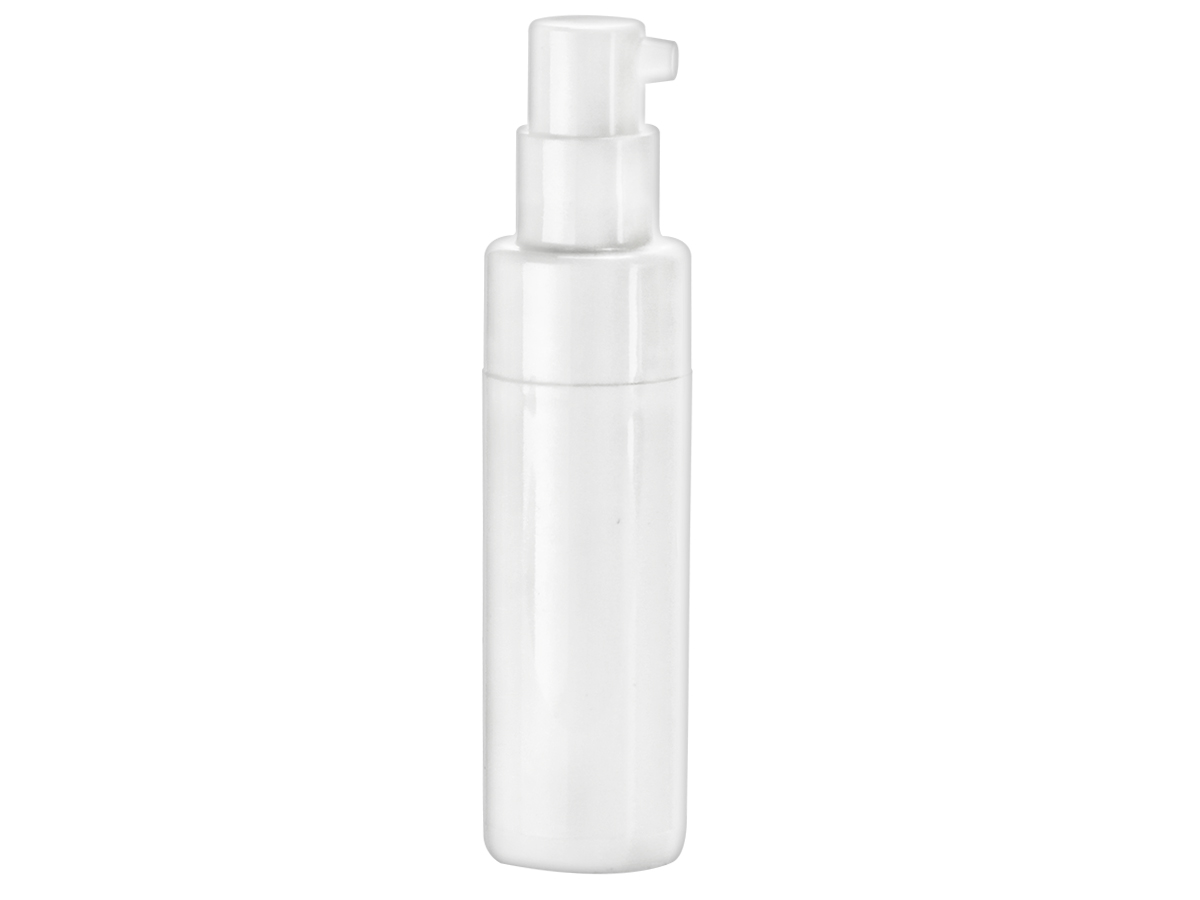 BUNDLE of 10!!!2 OZ WHITE CYLINDER ROUND BOTTLES with LIDS